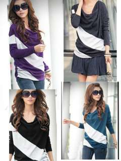 New Fashion batwing long sleeve Womens T shirt Tops & Blouses