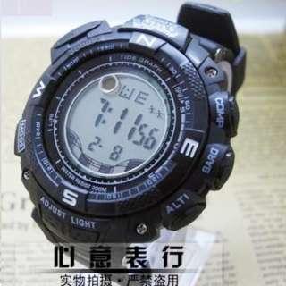New Fashion Black Luxury Sport Style Mens & lady Waterproof Wrist