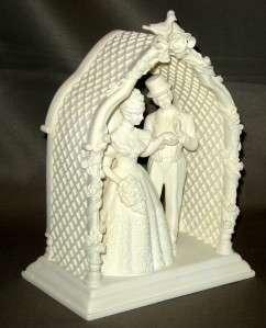 BNIB DEPT 56 ON THIS DAY WEDDING CAKE TOPPER ARBOR