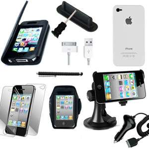 Accessories Bundle Case/Car Holder Charger/Stylus For iPhone 4