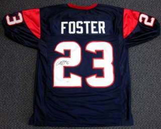 ARIAN FOSTER AUTOGRAPHED SIGNED TEXANS JERSEY JSA