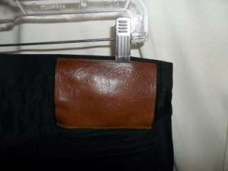 DOLCE & GABBANA Italy Black Cotton/Rayon/Spandex Pants / Jeans 50 (34