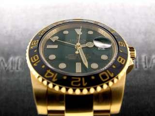 MASTER II 18K YELLOW GOLD GREEN DIAL CERAMIC BEZEL   116718 G