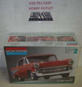 MONOGRAM PLASTIC Model Kit 2225 1957 CHEVY HARDTOP 1/24 GMS CUSTOMS