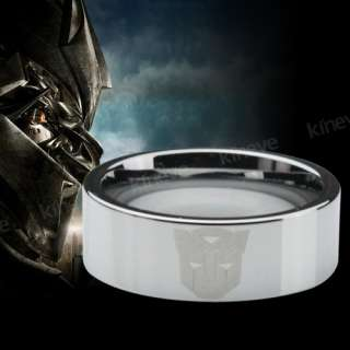 8MM TUNGSTEN RING TRANSFORMERS SYMBOL AUTOBOTS BAND