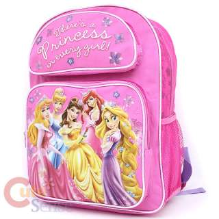 Disney Princess w/Rapunzel School Backpack Bag  Medium