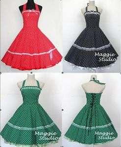 50er Jahre Tanz Kleid zum Petticoat Rockabilly 503