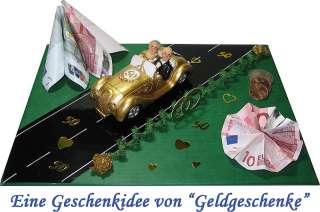 Geldgeschenk Goldene Hochzeit Brautpaar mit Auto  50 Jahre verheiratet