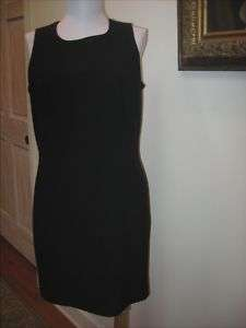 LORD & TAYLOR Black Fitted Dress   Size 8P   EUC