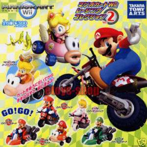 MARIO KART WII RACING CAR PRINCESS 2 Gashapon Full