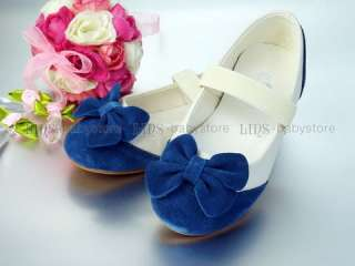 new kids girl blue bow mary jane shoes US 7 8 9 10