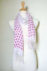 POLKA DOT SUMMER LIGHT BEACH SCARF WRAP SHAWL SALE