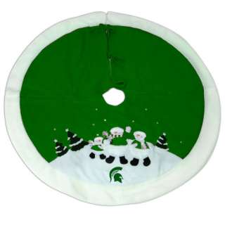 Michigan State Spartans Snowman Christmas Tree Skirt