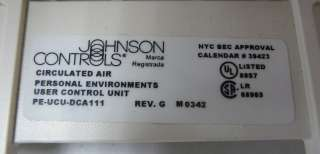 JOHNSON CONTROLS PERSONAL AIR ENVIRONMENT PE FEU DCA111