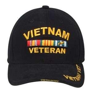 NEW Vietnam Veteran Low Profile Insignia Ball Cap