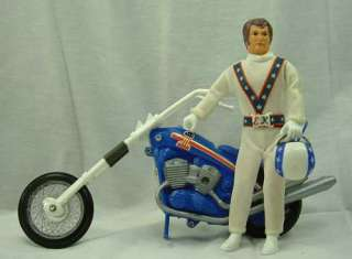 1970s Ideal Evel Knievel Gyro Powered Stunt Chopper Motor Cycle