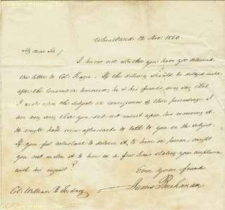 JAMES BUCHANAN   AUTOGRAPH LETTER SIGNED 11/12/1850