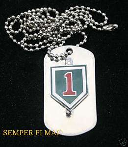 1ST INFANTRY DIVISION DOG TAG US ARMY NECKLACE 1ST ID