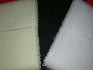 WHITE BIRDCAGE BRIDAL WEDDING VEIL NET OVERSIZED 36+x9