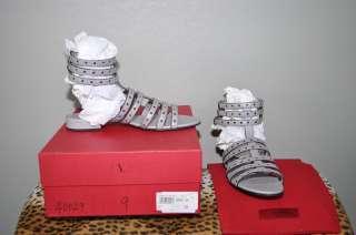 VALENTINO Grey Gladiator Sandals Shoes Heels NIB sz 39 US 9 $895