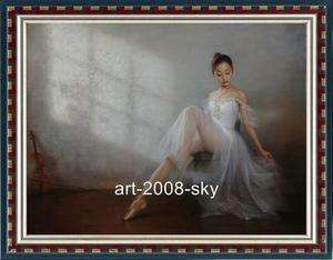 Original women Oil painting Female art chinese Ballet girl on canvas30