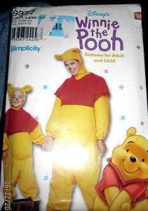 Baby costumes sewing pattern Winnie Pooh bear sz 3 8 039363242567