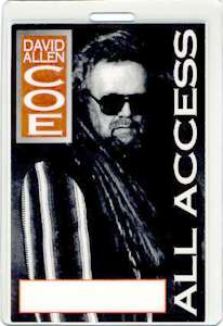Unused laminated backstage pass for the DAVID ALLAN COE 1995 STANDING