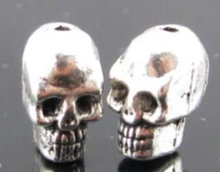 40 X TIBETAN SILVER SKULL SPACER BEADS FINDING COOL