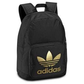 ADIDAS ORIGINALS ADICOLOUR BLACK/GOLD BACKPACK SHOULDER BAG NEW RETRO