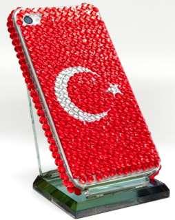 iPhone 4 4S TÜRKEI TÜRKIYE STRASS Cover hard Case Hülle bling