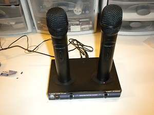 VHF 3300 2 Ch VHF Rechargeable Wireless Microphone System   PLZ READ