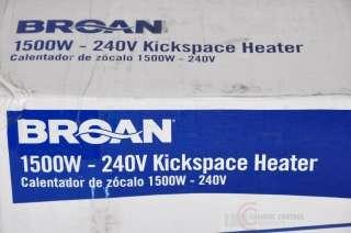 Broan Model 112 Kickspace Heater w/ Built In Thermostat