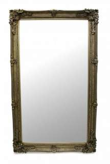 Large French Ornate 5ft x 3ft Silver Wall Full Length Mirror Dressing