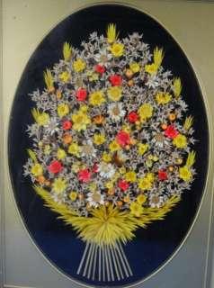 Vintage Dried Flower Art Arrangements Wall Hangings