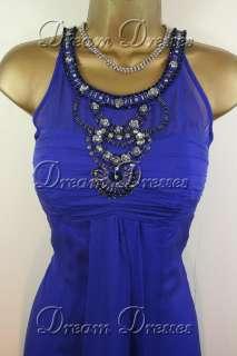 BNWT Monsoon Marcella Blue Silk Dress & Shrug Size 8