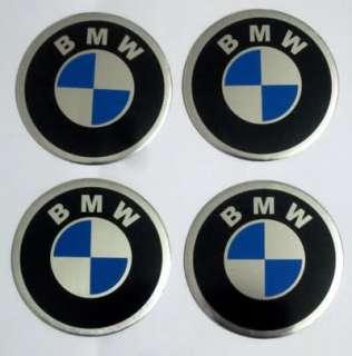 55mm BMW LOGO CAR TIRE WHEEL CENTER CAP STICKER 4PC/SET