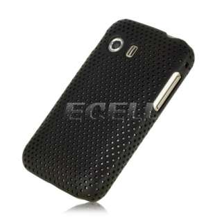 BLACK PERFORATED MESH SNAP ON HARD BACK CASE COVER FOR SAMSUNG GALAXY