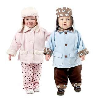 NEW GIRLS BABY BOY COAT HAT PANT WINTER SEWING PATTERN