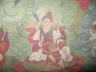 Wonderful Amazing Old Antique Unique Tibetan Hand Painted Buddhist