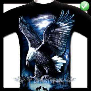 Black Eagle Tattoo T Shirts Punk Rock Vintage M / 1190