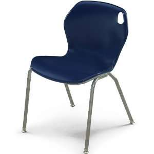 18H Intuit Stacking Chair with Powder Coat Frame   Navy