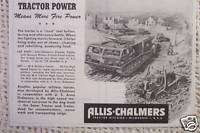 1945 WWII OLD AD ALLIS CHALMERS MILITARY M 6 TRACTOR