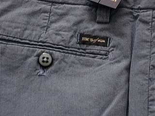 Pantaloni uomo cotone elast. Blu righe MASONS Breas Tg. 46 Original