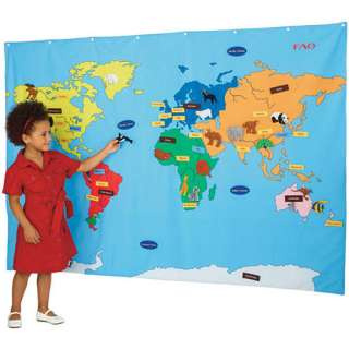 FAO Schwarz Big World Map   FAO Schwarz   Geography Puzzles & Games