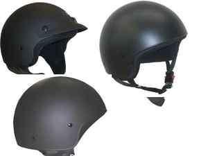 casco CASCHI custom DEMI JET 3 varianti NERO OPACO HD