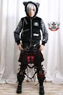 14H Punk Motorcycle BIKER Engineer CALF BOOT Stud Strap