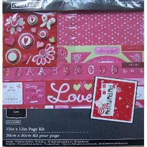 Colorbok Love Scrapbook Page Kit 12x12 Home & Kitchen