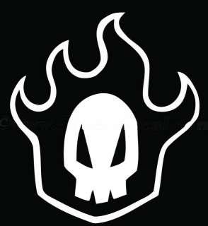 Anime Bleach Rukia Skull Vinyl Wall Art Sticker/Decal