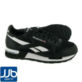 Reebok Classic Leather Clip Mesh Mens Stylish Black/White Trainers