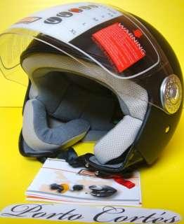casco moto jet demi jet origine mod ecco nero opaco taglia XL (S M L